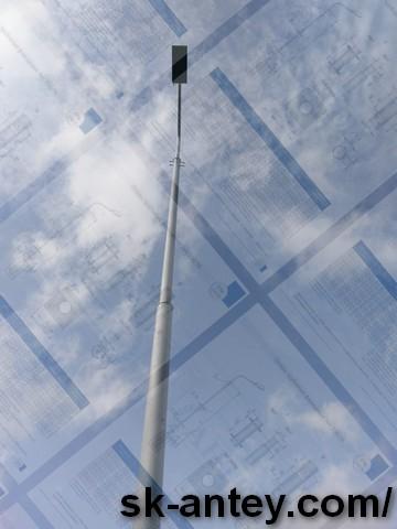 Опоры освещения  Столбы металлические  Флагштоки Светодиодные прожектора Мет