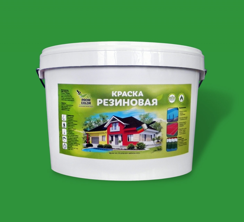 Резиновая экологичная краска Prom Color от производителя