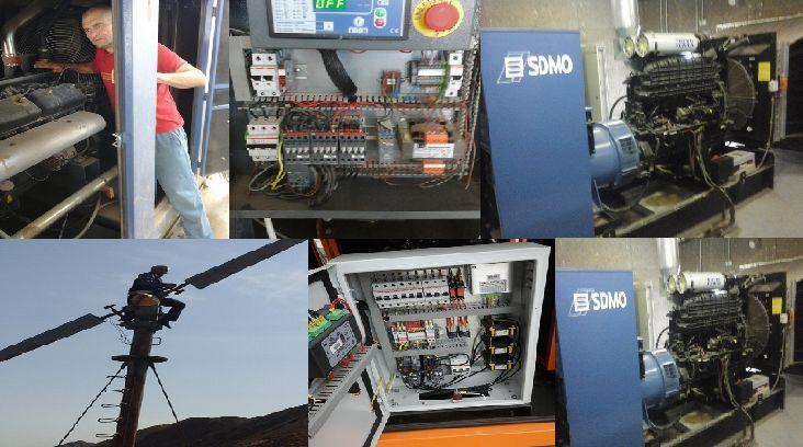 Установка генераторов, компрессоров любой мощности гарант. обсл, ремонт.