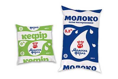 Молочные брендированные пакеты линпак