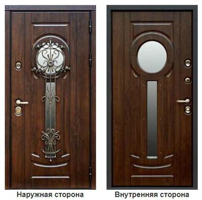 Элитные входные металлические двери для парадного входа.