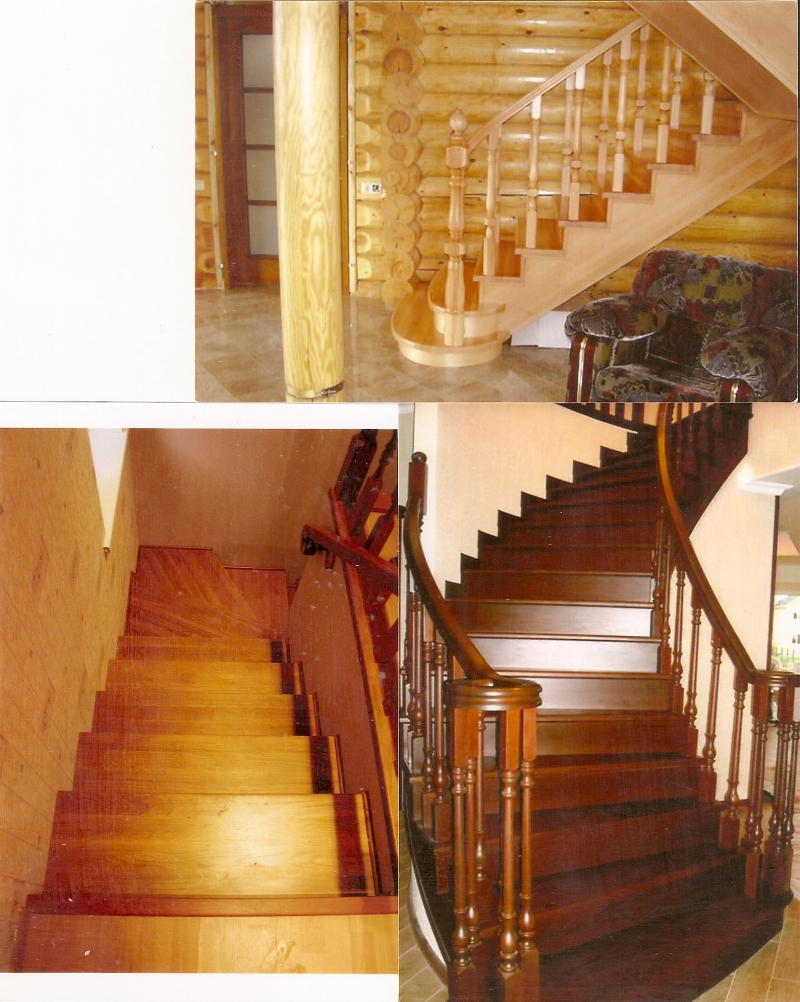 Деревянные лестницы в Одинцово, МО,Москве, цены