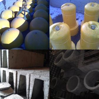 Полусфера бетонная, ограничители парковки, бетонный столбик для ограждения