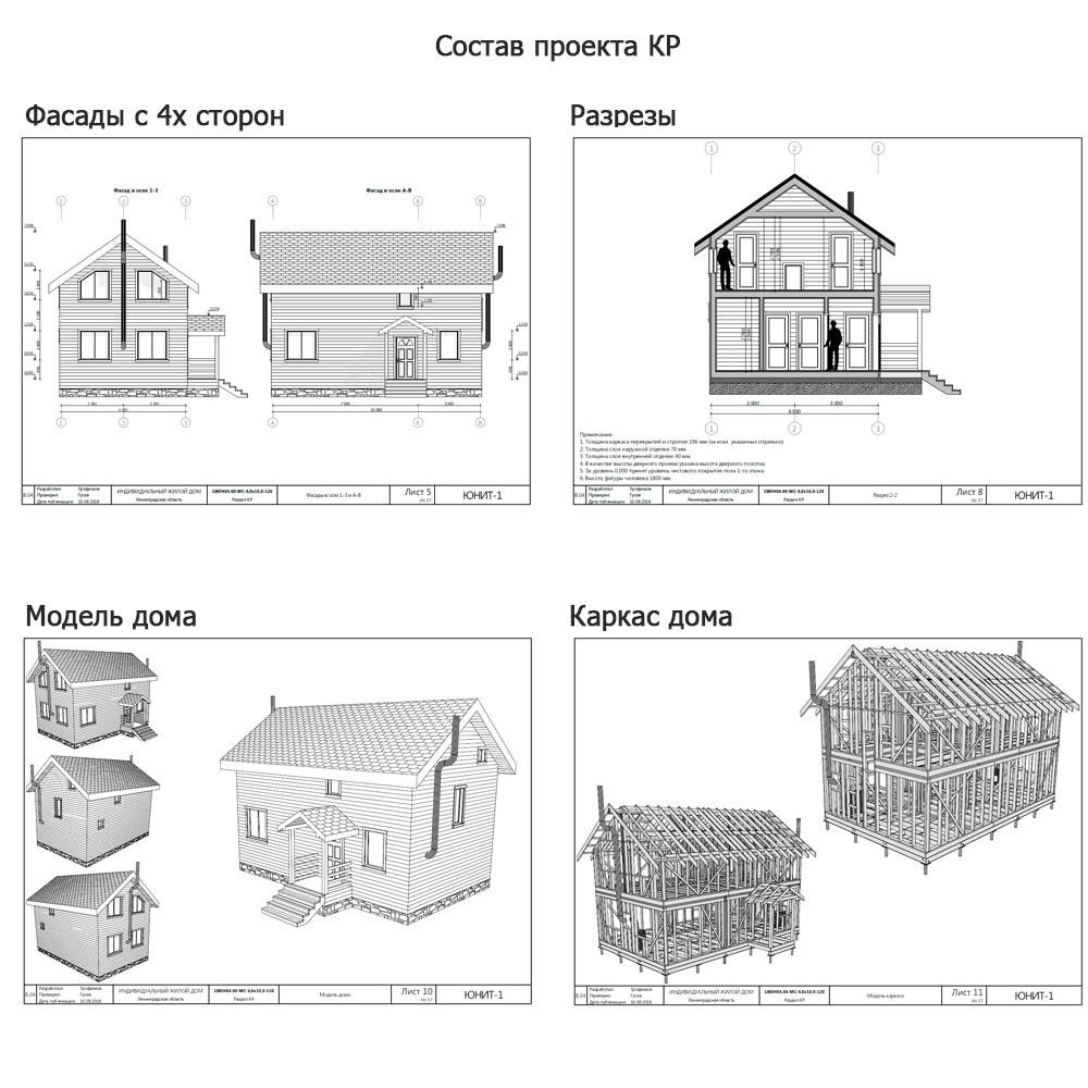 50 готовых проектов каркасных домов