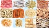 Сушеные морепродукты, вяленая рыба